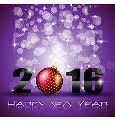 2016 Happy New Year and Merry Christmas Background vector image vector image