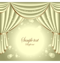 Background with light olive drapes vector image vector image