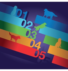 number dogs vector image vector image