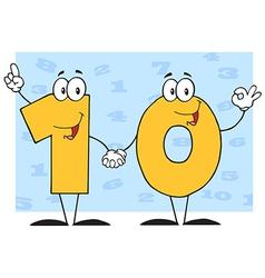 Number Ten Cartoon Character vector image vector image