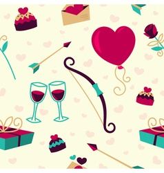 Seamless pattern for Valentines Day card vector image vector image