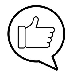 speech bubble with hand like image vector image vector image