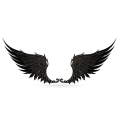 Wings black vector image vector image
