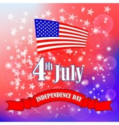 American Flag Starry Background vector image