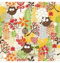 Beautiful seamless texture with owls vector image vector image