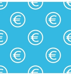 Euro sign blue pattern vector image