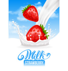 milk splash vector image vector image