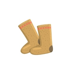 Russian felt boots vector