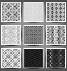 set of graphic seamless patterns vector image