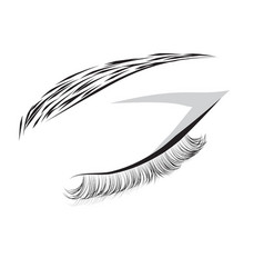 female closed eye drawing vector image vector image