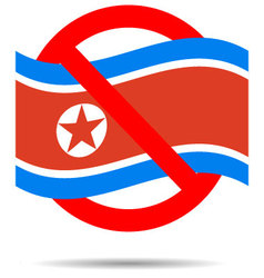 North Korea ban sign vector image