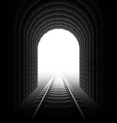 Railroad tunnel vector