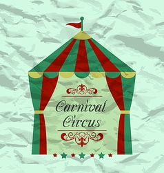 Vintage circus poster for your advertising vector image