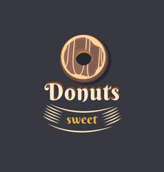 vintage logo donut vector image