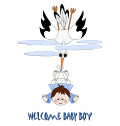 Welcome baby boy vector image