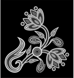 decorative flower vector image vector image