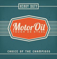Motor Oil Design vector image vector image