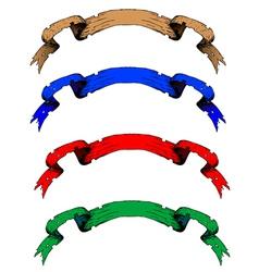 old ribbon vector image