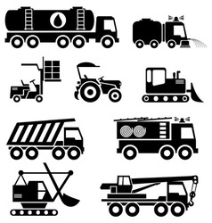 special vehicles vs vector image vector image