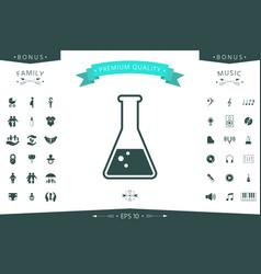 test-tube symbol bubbles vector image