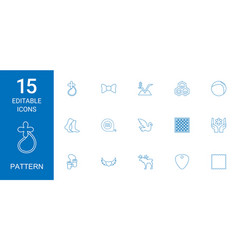 15 pattern icons vector