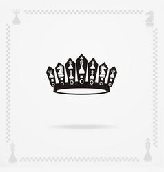 A big black crown vector