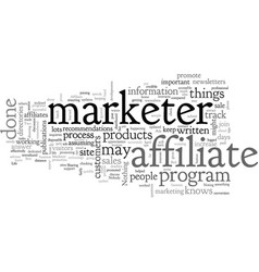 a day in life an affiliate mkter vector image