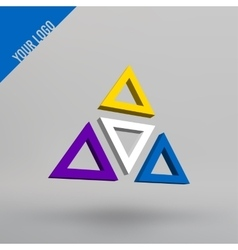 Abstract 3d logo arches in perspective vector