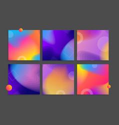 abstract modern color design banner card set vector image