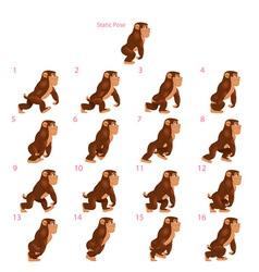 Animation gorilla walking vector
