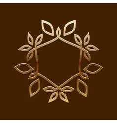 Antique Golden designLine art logo vector