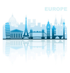Architectural sights europe vector