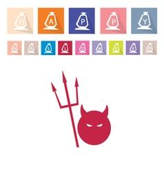 Assorted of 16 happy halloween flat icons vector