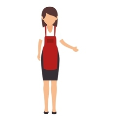 Avatar woman wearing red apron vector