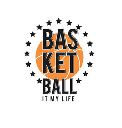 basketball it my basketball star background vector image