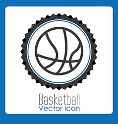basketball league design vector image