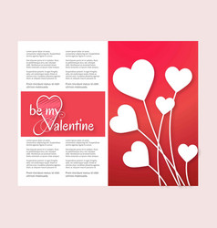 be my valentines card vector image