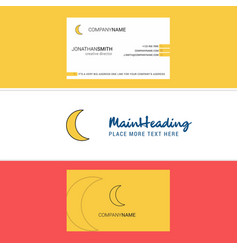 beautiful crescent logo and business card vector image