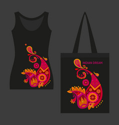 Beautiful indian motif dark concept vector