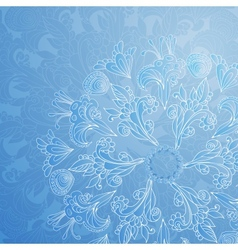 Blue floral ornament background vector image