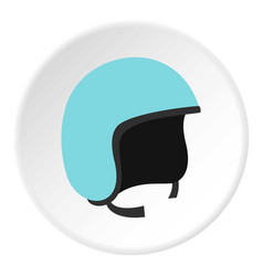 Blue safety helmet icon circle vector