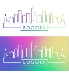 bogota skyline colorful linear style editable vector image