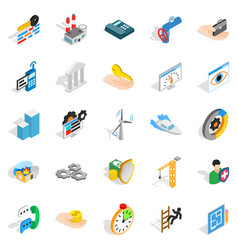 Business consort icons set isometric style vector