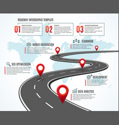 business road map strategy timeline with vector image