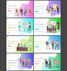 business training learning of new tricks company vector image