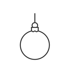 christmas ball line icon vector image