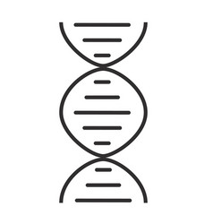 Chromosome line icon on white background vector