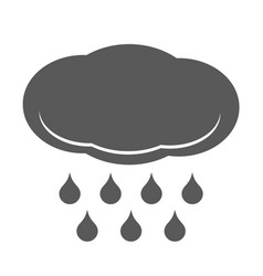 Cloud rain icon simple style vector