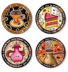 coffee tea drink coasters vector image