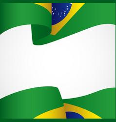 Decoration brazil insignia vector